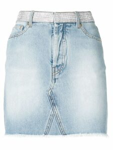Alexandre Vauthier crystal embellished denim skirt - Blue