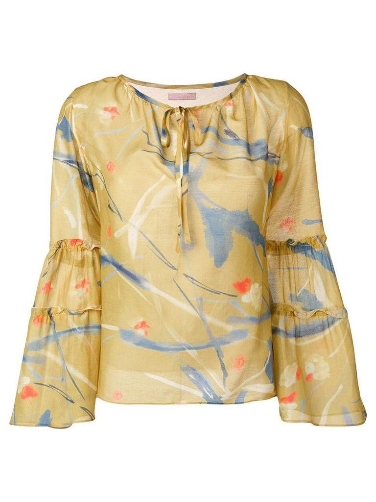 Kristina Ti tiered sleeve blouse - Green