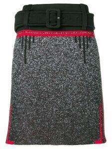 Prada belted knee skirt - Black