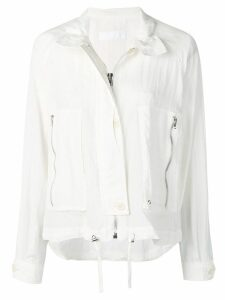 Helmut Lang parachute short trench - White