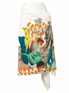 Marni collage wrap skirt - White