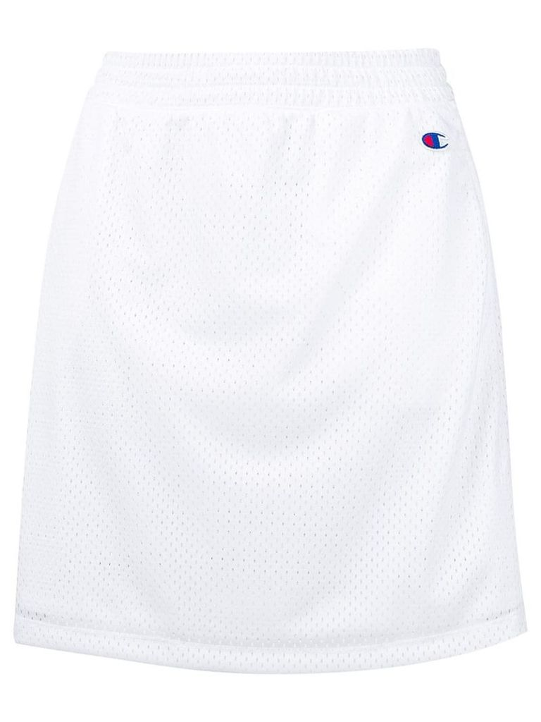 Champion jersey A-line skirt - White