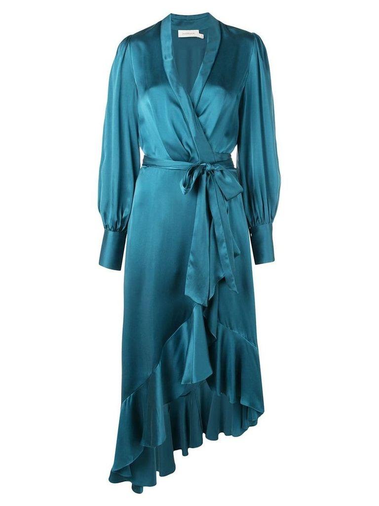Zimmermann draped wrap dress - Blue
