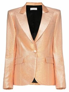 Faith Connexion single breasted metallic cotton blend blazer