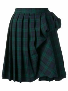 Y/Project gathered detail pleated skirt - Blue