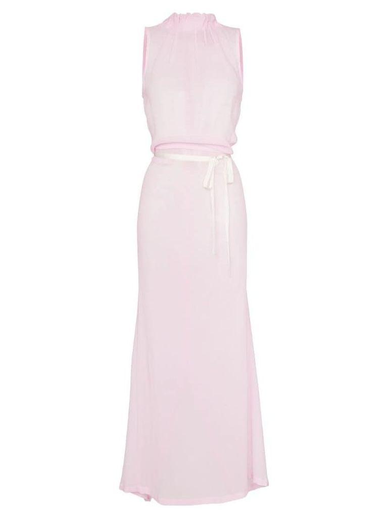 Ann Demeulemeester sheer maxi dress - Pink
