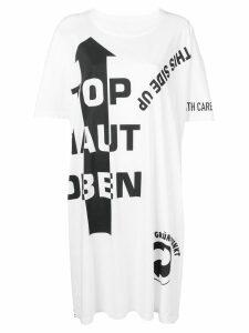 Maison Margiela slogan detail T-shirt dress - White