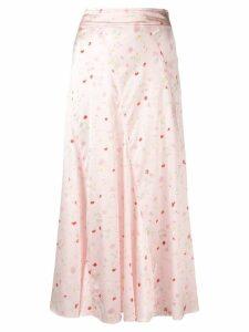 Ganni floral skirt - Pink