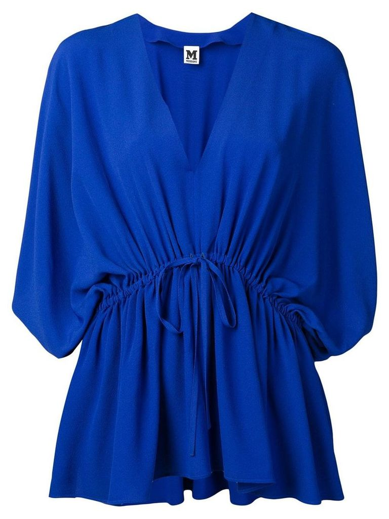 M Missoni drawstring waist blouse - Blue