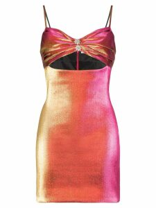 AREA cutout mini-dress - Pink