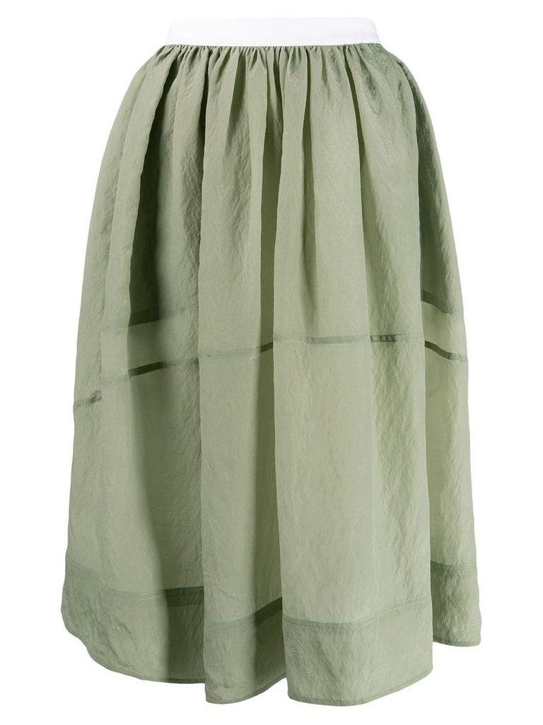 Golden Goose flared skirt - Green