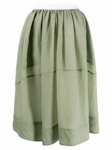 Golden Goose flared skirt - Green