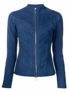Desa Collection suede zip jacket - Blue