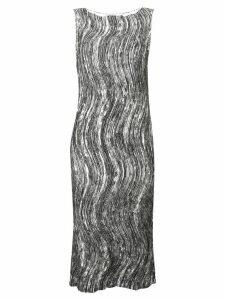 Issey Miyake stroke print dress - White