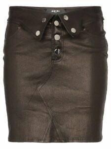 Amiri folded mini skirt - Black