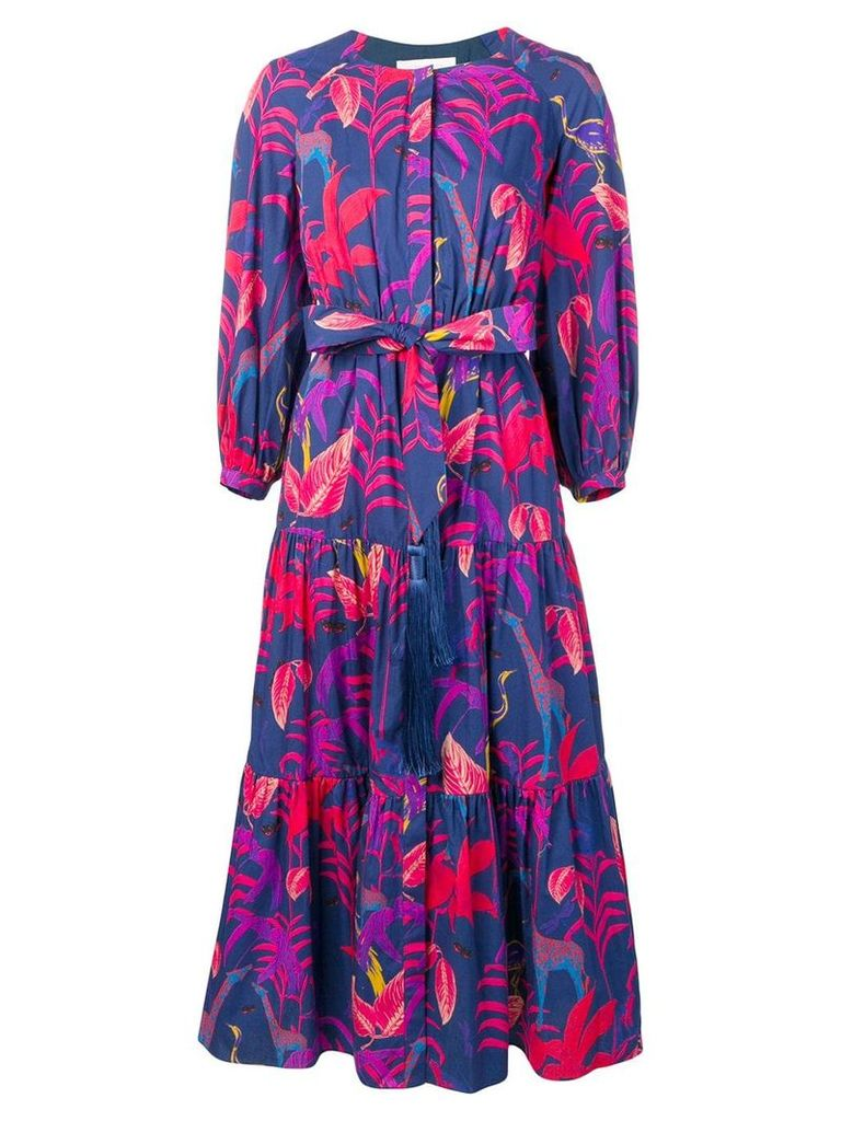 Borgo De Nor Tropical print maxi dress - Blue