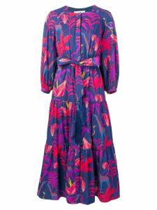 Borgo De Nor Tropical print maxi dress - Blue