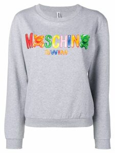 Moschino logo sweatshirt - Grey