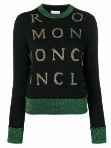 Moncler contrast logo jumper - Black
