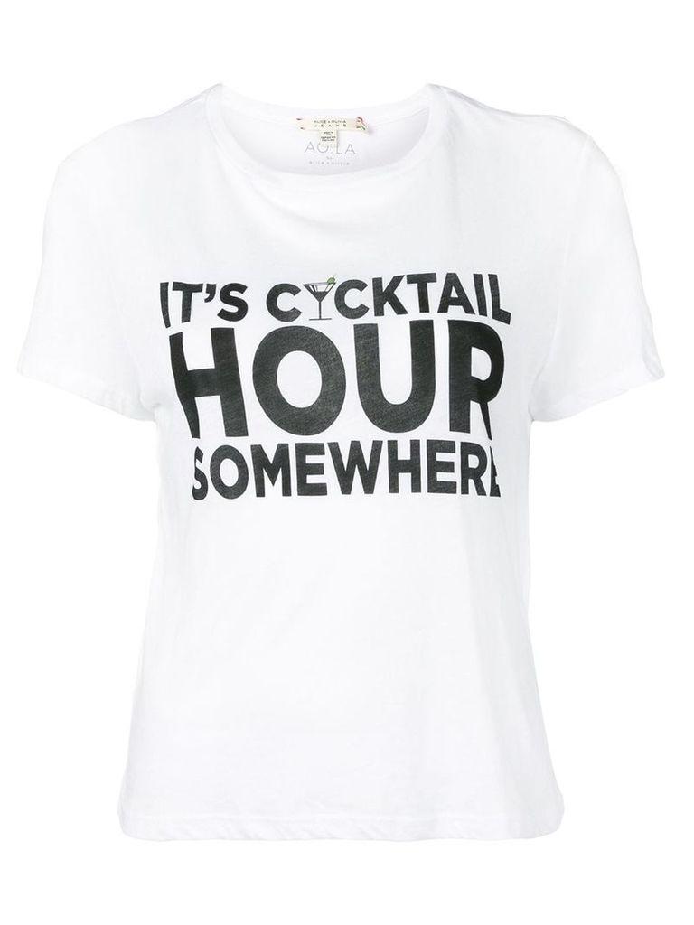 Alice+Olivia graphic T-shirt - White