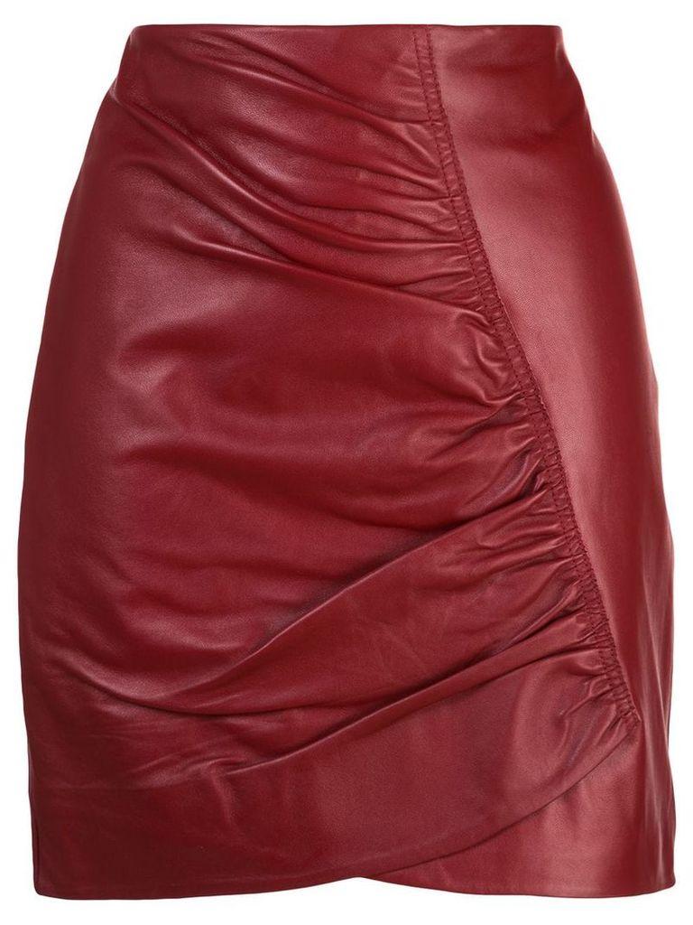 Robert Rodriguez Studio Taylor ruched short skirt - Red