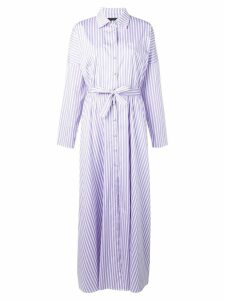 Federica Tosi striped shirt dress - White