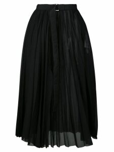 Sacai belted pleated skirt - Black