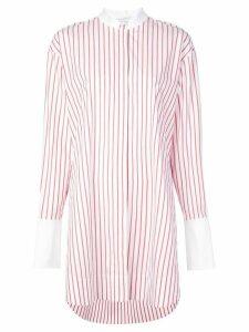 Marina Moscone oversized striped shirt - White