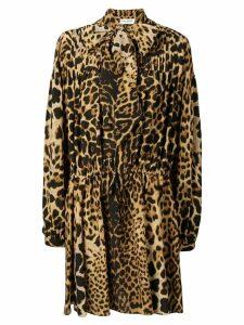 Saint Laurent leopard print dress - Brown