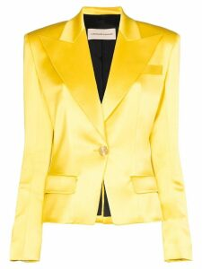 Alexandre Vauthier single-breasted blazer - Yellow
