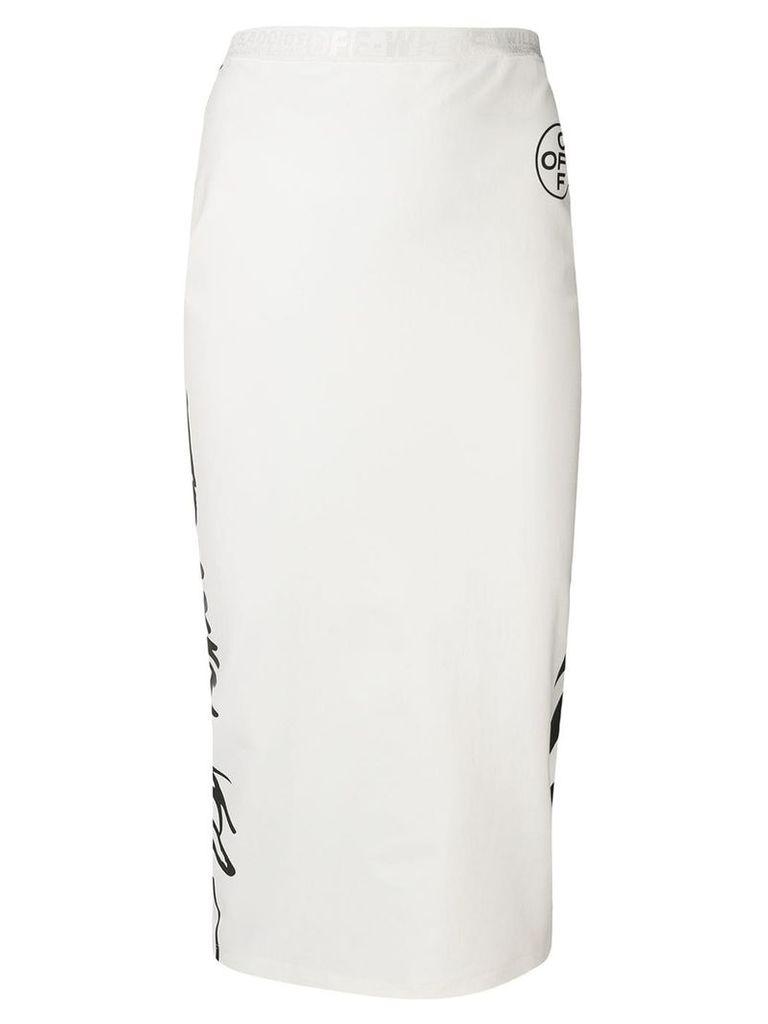 Off-White logo print bodycon skirt