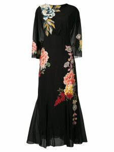 Etro embroidered floral dress - Black