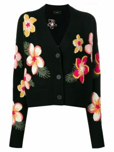 Alanui floral intarsia cardigan - Black