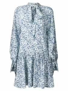 Stella McCartney floral peasant dress - Blue