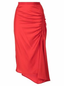Christopher Esber Incline Gather skirt - Red