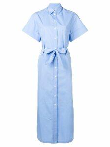 Maison Kitsuné belted shirt dress - Blue
