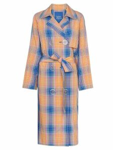 Simon Miller Paz check trench coat - Orange