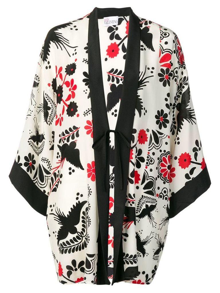 Red Valentino Terrace print kimono - White