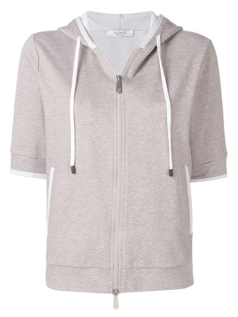 Peserico hooded zip-up sweatshirt - Grey