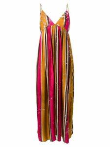 Uma Wang long stripe dress - Orange