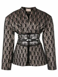 Christopher Kane lace bonded jacket - Black