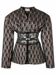 Christopher Kane lace bonded jacket - Black