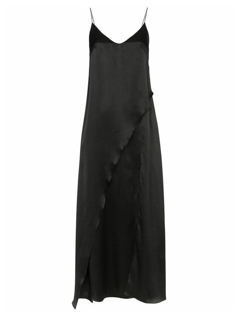Matériel split front maxi dress - Black