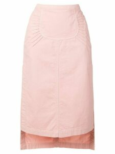 Nº21 side slit skirt - Pink