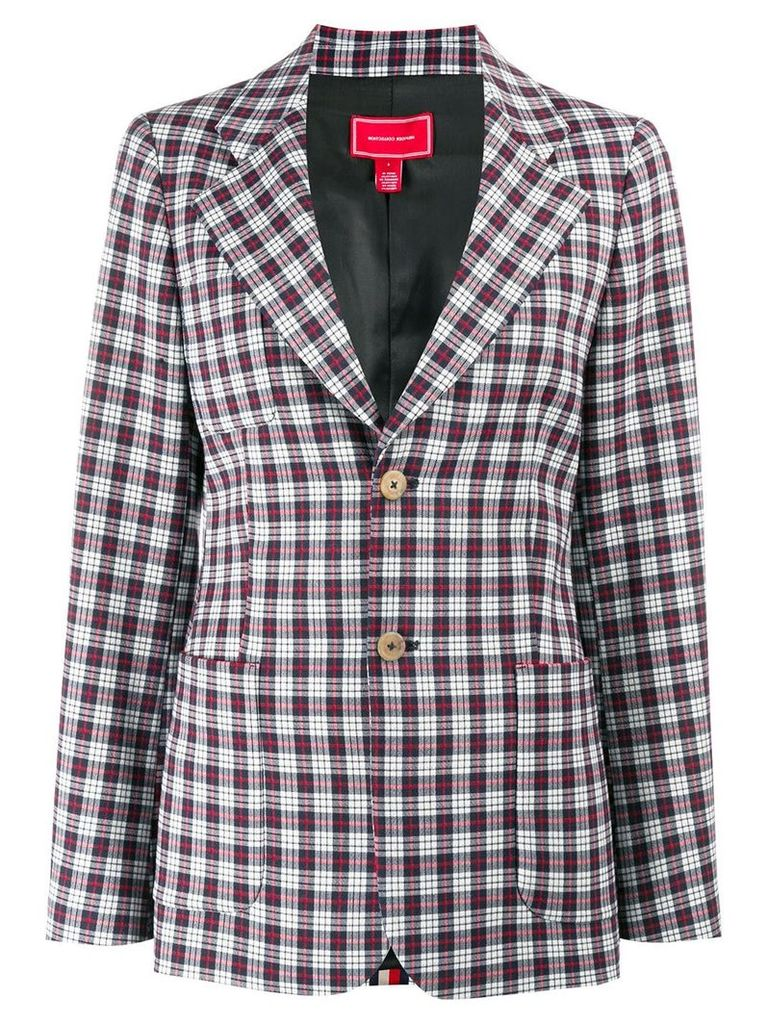 Hilfiger Collection plaid blazer - Blue