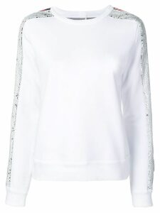 Iceberg sequin side panel sweatshirt - White