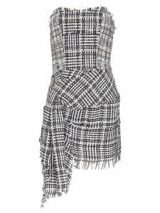 Faith Connexion bustier checked mini dress - Black