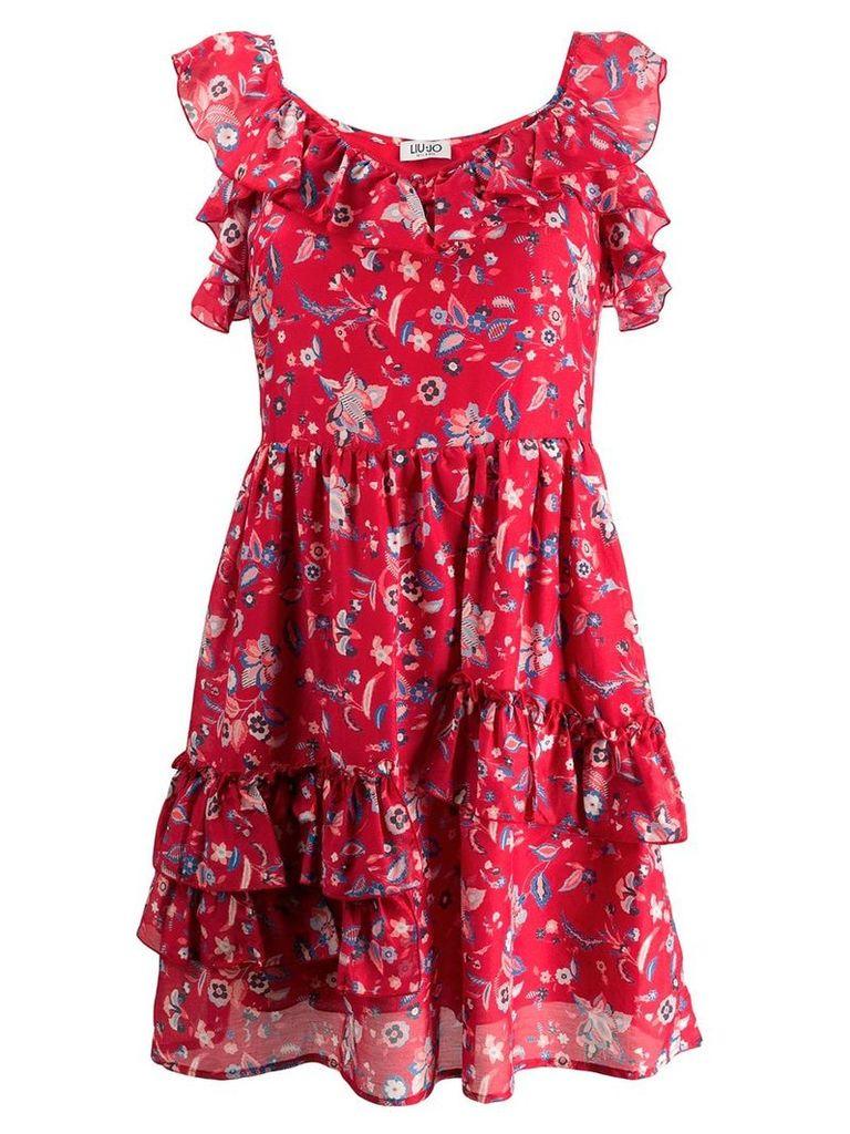 Liu Jo Texan flower print mini dress - Red