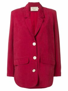 Maison Kitsuné relaxed blazer - Red