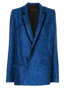 Haider Ackermann glitter blazer - Blue